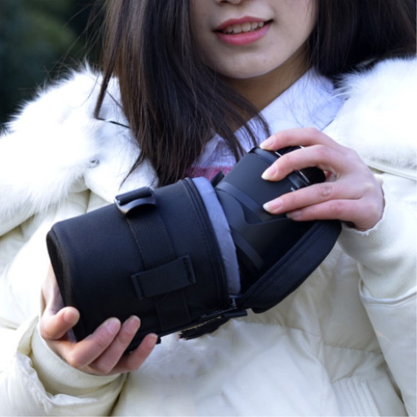 camera lens bag with shoulder strap 9X13cm for Nikon/conon/sigma/Sony
