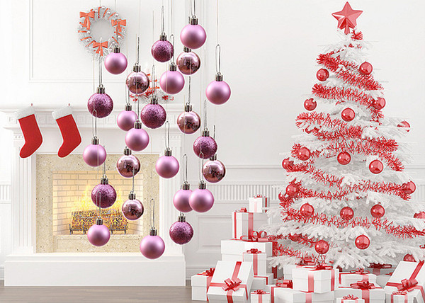 24pcs Christmas Ball Ornaments Shatterproof Christmas Decorations Tree Balls Pastel Small for Holiday Wedding Party Decoration