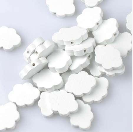 Natural Wooden beads 2017 new White Cloud Spacer Beads For Jewelry Making 22x17mm 20Pcs DIY MT2008X