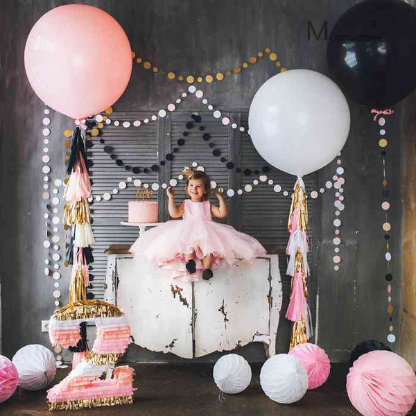 10pcs 36 inch 25g Jumbo Large Round Latex Balloons Transparent Clear Giant Wedding Ballons Table Centerpiece Bridal Shower Party