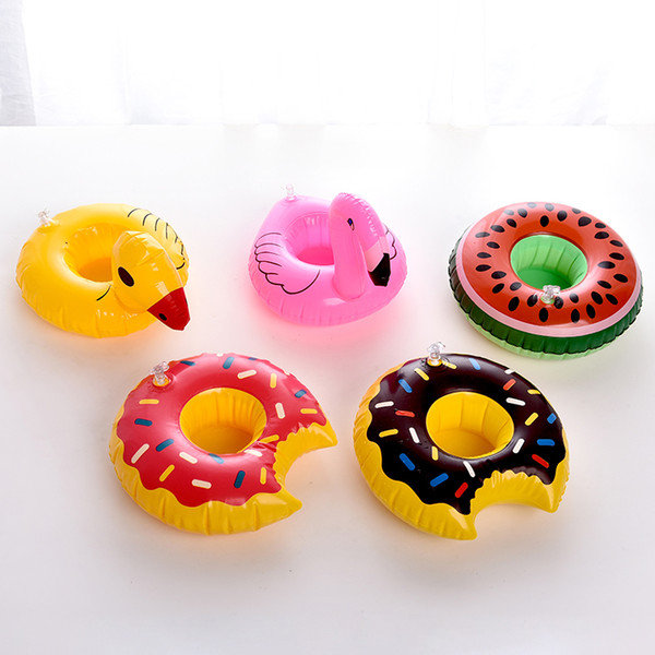 Mini Swimming pool drink float toy cup stand Water piscina Mat Floating inflatable cup holder Water Coasters zwembad accessories