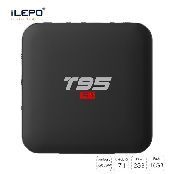 T95 S1 Amlogic S905W Quad Core Android 7.1 TV BOX 2GB 16GB 2.4GHz WiFi Media Player Smart Box MXQ PRO