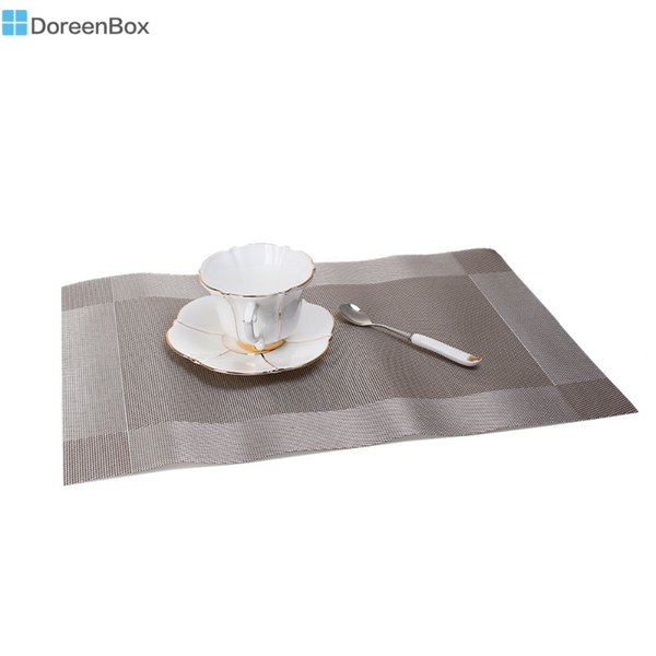 Doreen Box Placemats Fashion PVC Insulation Dining Table Mats Coasters Disc Pads Bowl Pad Waterproof Table Cloth Pad,1PC