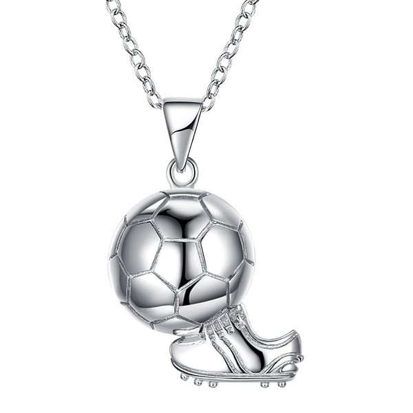 Pendant 925 Sterling Silver Soccer Football Boots