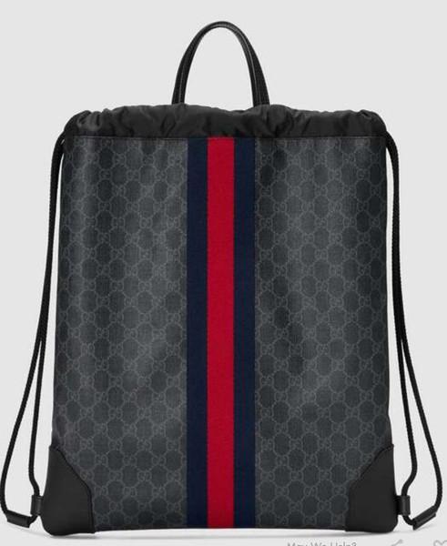 2018 Soft drawstring backpack 473872 Men Backpacks SHOULDER BAGS TOTES HANDBAGS TOP HANDLES CROSS BODY MESSENGER BAGS