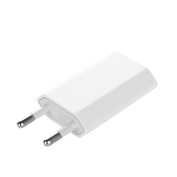 with CE certificate 4th flat White full 1A EU AC Plug USB Power Home Wall Charger Adapter Original for iPhone i4 I5 I6 I7 100pcs/lot
