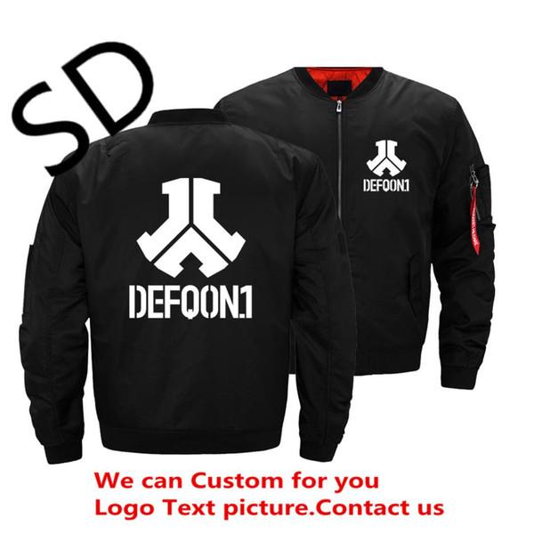 Fashion DJ Defqon.1 Rock Band Winter Bomber Hoodies Men Jackets Casual Hip Hop Mens Warm Jackets One Pilot 4XL 5XL