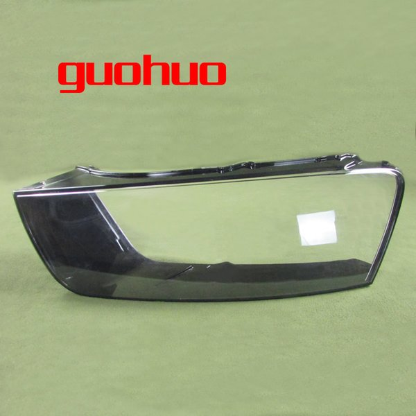 For Audi Q3 16-17 Headlight cover Plastic Transparent Shade Headlight Transparent Shell Lampshade Headlamp Cover 1PCS