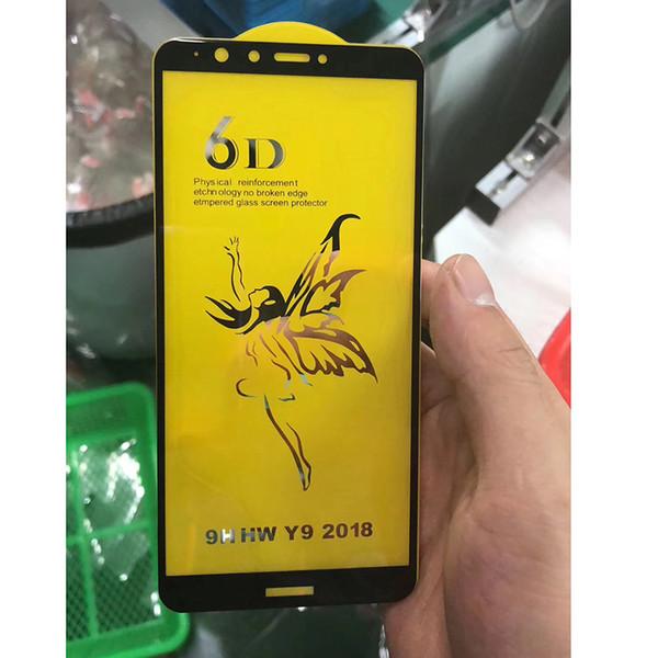 6D Cubierta Completa Curvada Película de Vidrio Templado Para Samsung A8 A7A5 2019 Protector de Pantalla Estuche de Dureza HD para Galaxy J7Pro J8 2018 Plus