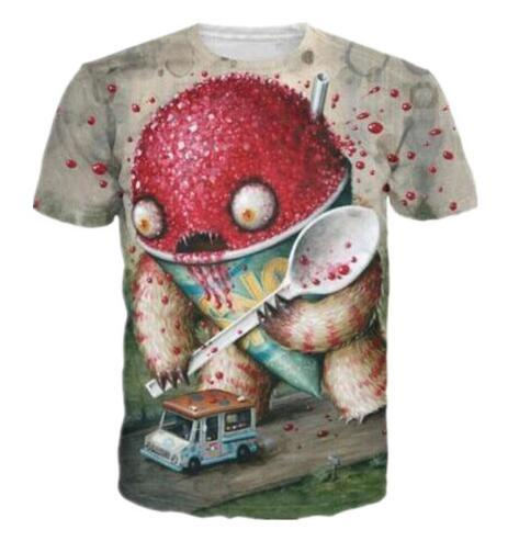 Abominable Snowcone 3D Print Funny Casual T-Shirt Short Sleeve Quick Dry Clothing Design Fashion Women/men Tees Hip Hop Sweat Tops