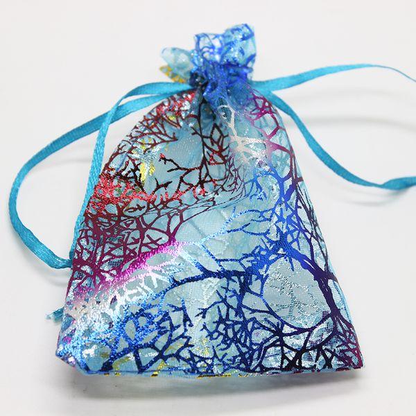wholesale 100pcs/lot Organza Bags White Coralline Custom Jewelry Tea Packaging Bags Organza Wedding Gift Bags