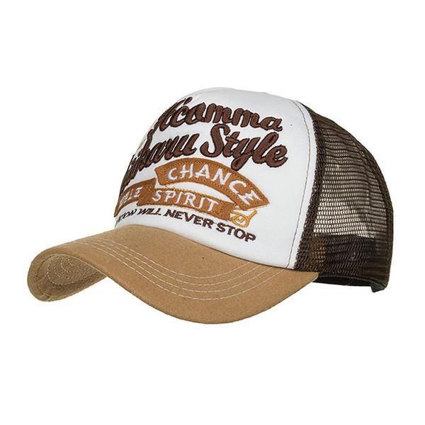 Gorra de béisbol de verano para hombres mujeres sombreros de malla bordados  Gorras Hombre sombreros casuales c30f365520d