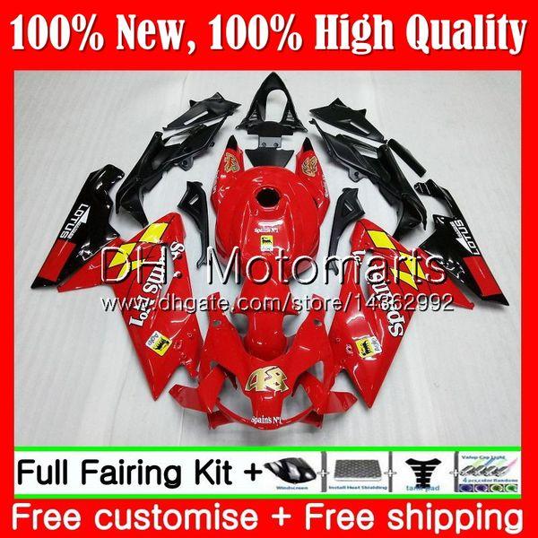 Inyección para Aprilia Rojo brillante RS4 RSV125 06 07 08 09 10 11 RS-125 0MT20 RS 125 R RS125 2006 2007 2008 2009 2010 2011 Fairing Bodywork