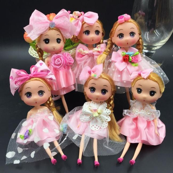 best selling Princess Wedding Doll Backpack Keychain Keyring Pendants Charm Toy throw favors Children Kids Gifts baby dolls 18cm