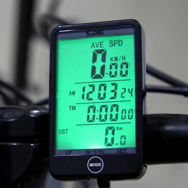 Wireless LCD Bike Bicycle Computers Speedo Odometers Waterproof Speedometers