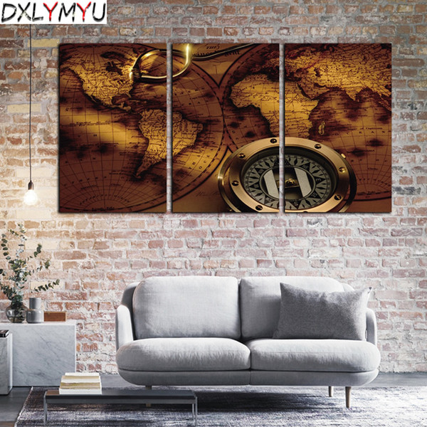 5D Diy Diamond Painting Crystal Cross Stitch Home Decoration 3D Full Square Diamond Embroidery 3PC/SET World Map Picture