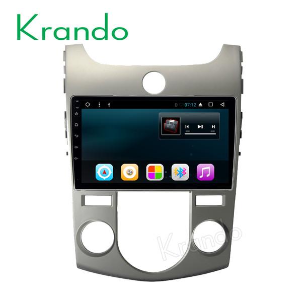 "Krando Android 8.1 9"" car dvd audio navigation gps for Kia Forte Cerato 2008-2014 radio entertainment system bluetooth OBD2"