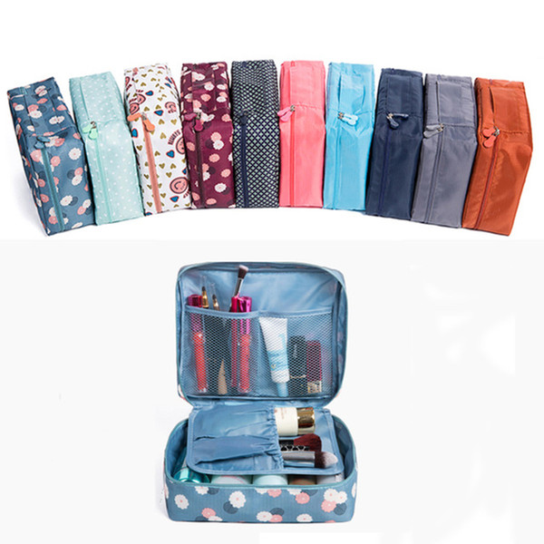 2018 Beautician Vanity Necessaire Trip Women Travel Toiletry Toiletry Storage Waterproof Travel Bags Makeup Case Cosmetic Bag S923