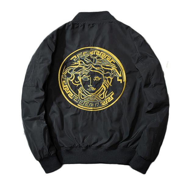 new Man embroidery jacket men and women couple Embroidery MA1 Bomber Jacket Chinese Style Pilot Bomber Coats Baseball Jackets
