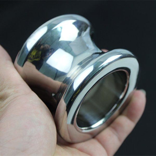 The Anus Dilator Stainless Steel Hollow Ball Anal Ring Anal Plug Anal Sex Toys Toy Adult Game 4 Size for Choice H8-35 Y18110402