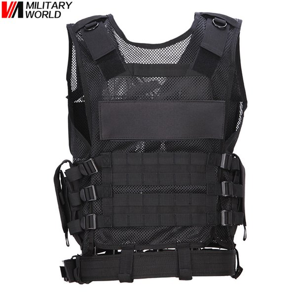Outdoor Breathable Tactical Mesh Vest Multi-functional Training Combat Waistcoat CS Paintball Safety Clothing Hunting Equipment