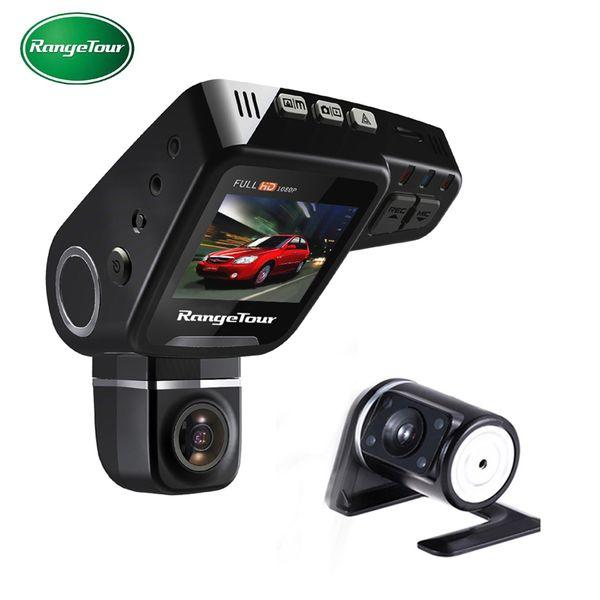 "RangeTour Dual Lens Car DVR Dashboard Camera C10S Plus Full HD 1080P Dash Cam Night Vision 2"" LCD Video Recroder Camcorder"