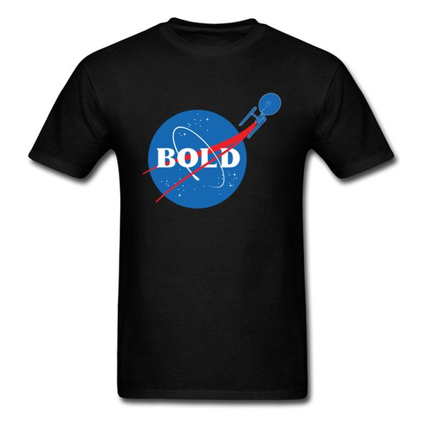 Bold Men T Shirt Satellite Planet T Shirt 90s Cotton Clothing Geek Chic Black Tshirt Hip Hop Tops Tees Slim Fit