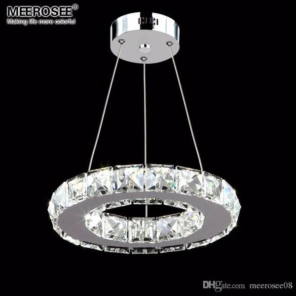 LED Pendentif En Cristal Luminaire Allée Porche Couloir Lampe Anneau En Cristal Lustres Éclairage Suspendu 100% Garantie