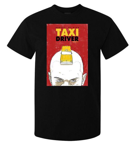 Taxi Driver Robert De Niro Película Vintage Retro Poster camiseta de hombre negro