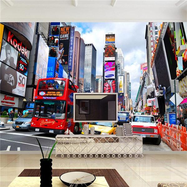 Compre Custom Wallpaper Bus New York Times Wallpaper Tv Wallpaper Background Oficina Dormitorio 3d Papel De Parede A 181 Del Xunxun66 Dhgatecom