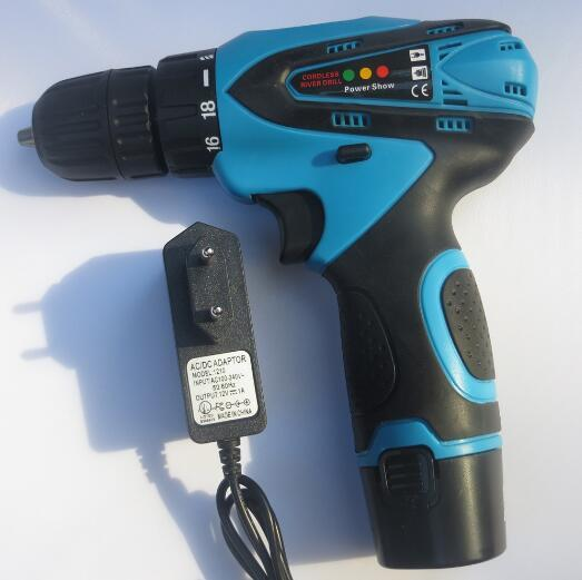 Brand New Free Shipping 12V Double Speed Electric Drill With Lithium Battery Cordless Electric Screwdriver Rechargeable Power Tools