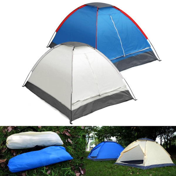 2 Person Tent Outdoor Camping Tent Water Resistance Anti-mosquito Single Layer Beach with Carry Bag for Hiking Traveling