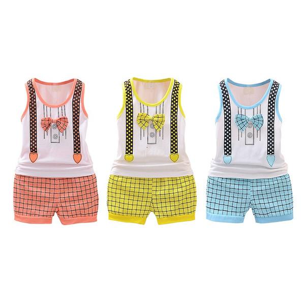 Baby Girls Boys Clothes Cotton Kids Bodysuit Summer Sleeveless Children Clothing Sets Cartoon Body Vest 2018 New