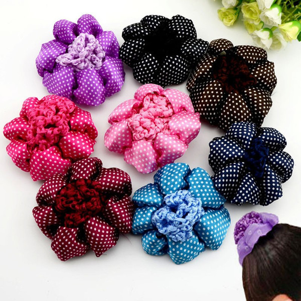 50Pcs Horse Show Pinup Dressage Crew Burlesque Plain Bun Cover Bow Hair Snood Net
