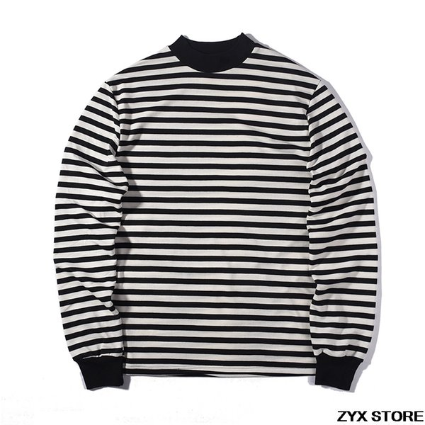 Fear Of God Best Version Quality Long Sleeve T shirt Striped Women Men Hiphop T shirts tee Fear Of God Tops FOG Oversized