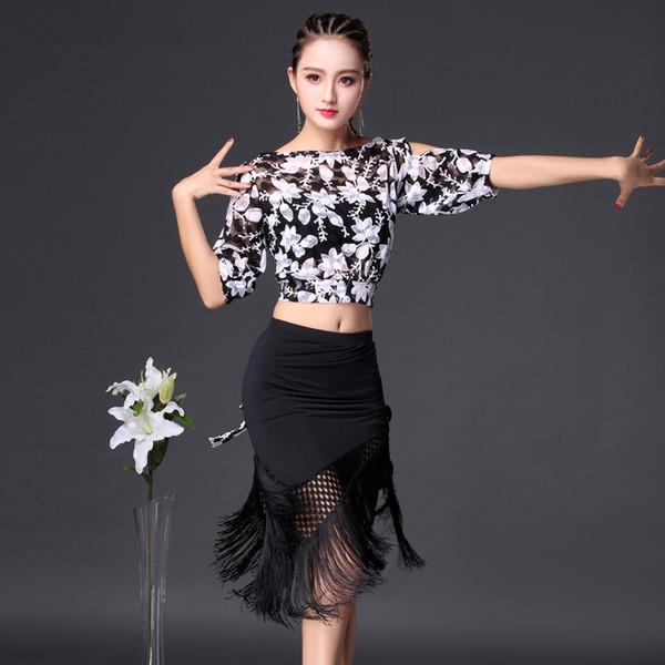 practice latin dance skirts top women latin dance clothes dress women tops fringe skirts suit