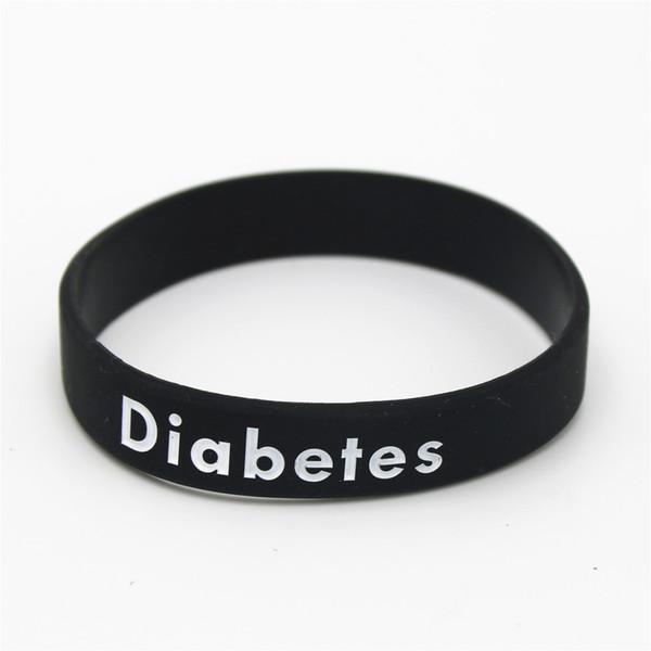 pulsera de diabetes de silicona