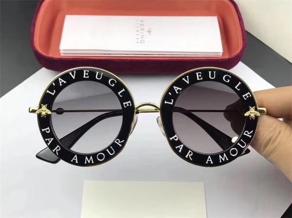 top popular 0113 latest fashion classic luxury goggles sunglasses design the best plate metal woman men best quality sunglasses design Usher 2019