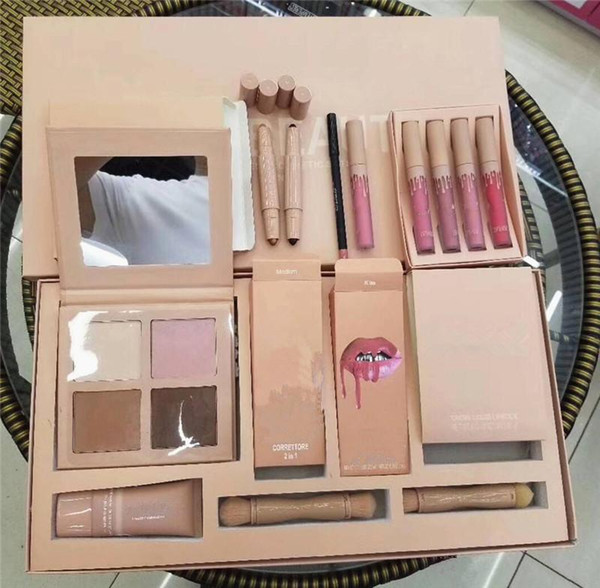 New Hotsale makeup Set contour powder palette concealer lipsticks brush Makeup Set Big Box Gift DHL shipping