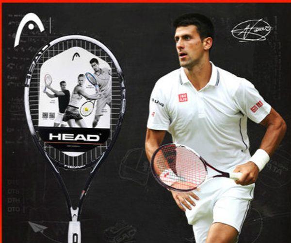 Head Tennis Racket Adultos Professional Sport Racquet de tennis Fibra de aluminio y carbono con sobregrip de saco de hilo para principiantes