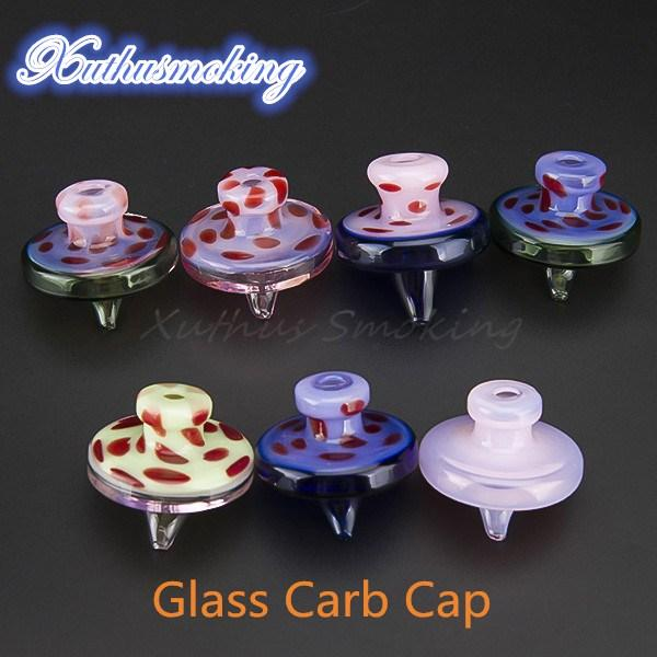 Glass Bubbler Carb Cap Universal Colored Hat Style Dome for Glass Water Pipes 35mm Length 35mm Dia dab oil rig Free DHL 670