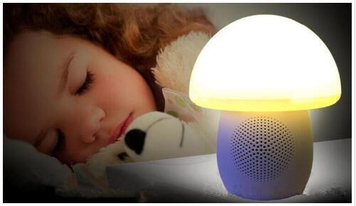 2018 new colorful mushroom lamp T6 Bluetooth speaker intelligent creative subwoofer bedside lamp small sound factory outlet QX 05