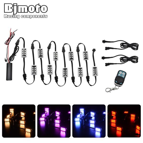 Lampada universale per il controllo della luce al neon con telecomando a LED per motocicli