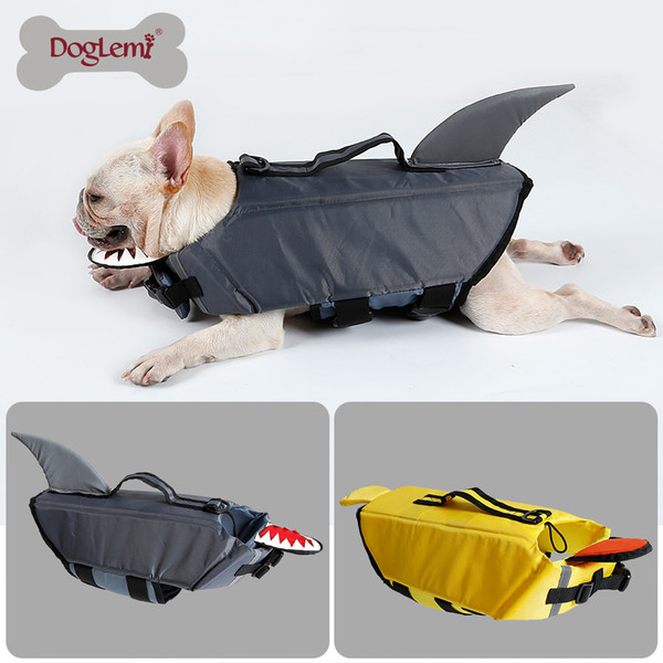 Dog Life Jacket Pet Life Vest Preserver for 4 Size Dogs Water Safety Swimsuit Flotation Device at the Pool Swimming, Beach, Boating