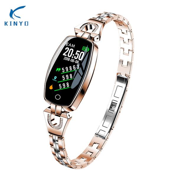 KINYO  female fitness bracelet blood pressure sleep tracker remote camera smart band waterproof fashion wristband pk xiomi