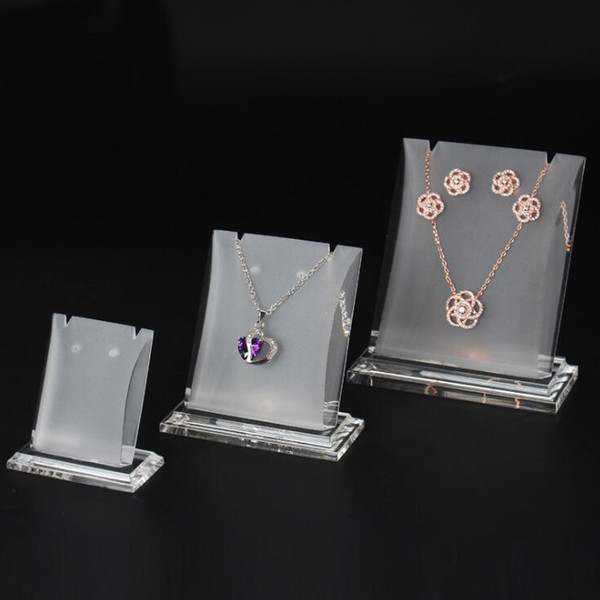 Jewelry Necklace Earring Set Display Prop Stand Acrylic Boutique Shop Counter Showcase Fair Market Booth Jewellery Charms Pendant Holder