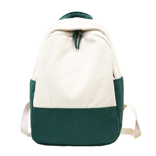 2018 yeni stil Joker, hafif moda kanvas çanta, omuz çantası, düz renk öğrenci sırt çantası.