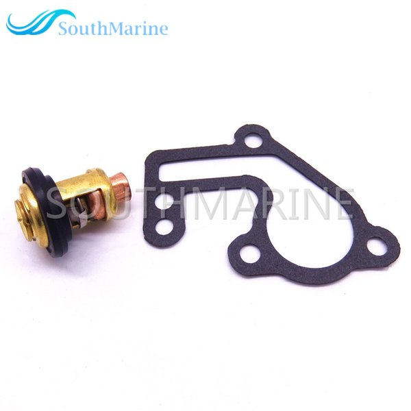 2019 Boat Engine 6E5 12411 00 6E5 12411 02 Thermostat And 682 12414 A1  Gasket For Yamaha 9 9hp 15hp 2 Stroke E9 9B E15B 9 9C Outboard Motor From