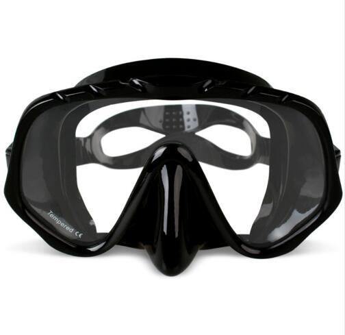 Professional Skuba Diving Mask Goggles Wide Vision Watersports Equipment With Anti-fog One-piece lens
