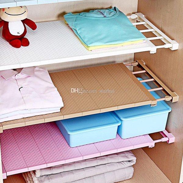 Adjustable Closet Organizer Storage Shelf Wall Mount Kitchen Cabinet Rack Space Saving Wardrobe Decorative Shelves Cabinet Holders WX9-1079